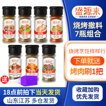 Barbecue Seasoning Set Cumin Pepper Salt Powder GrillEd With a full set of home-cured grilled barbecue sprinkled with black pepper.