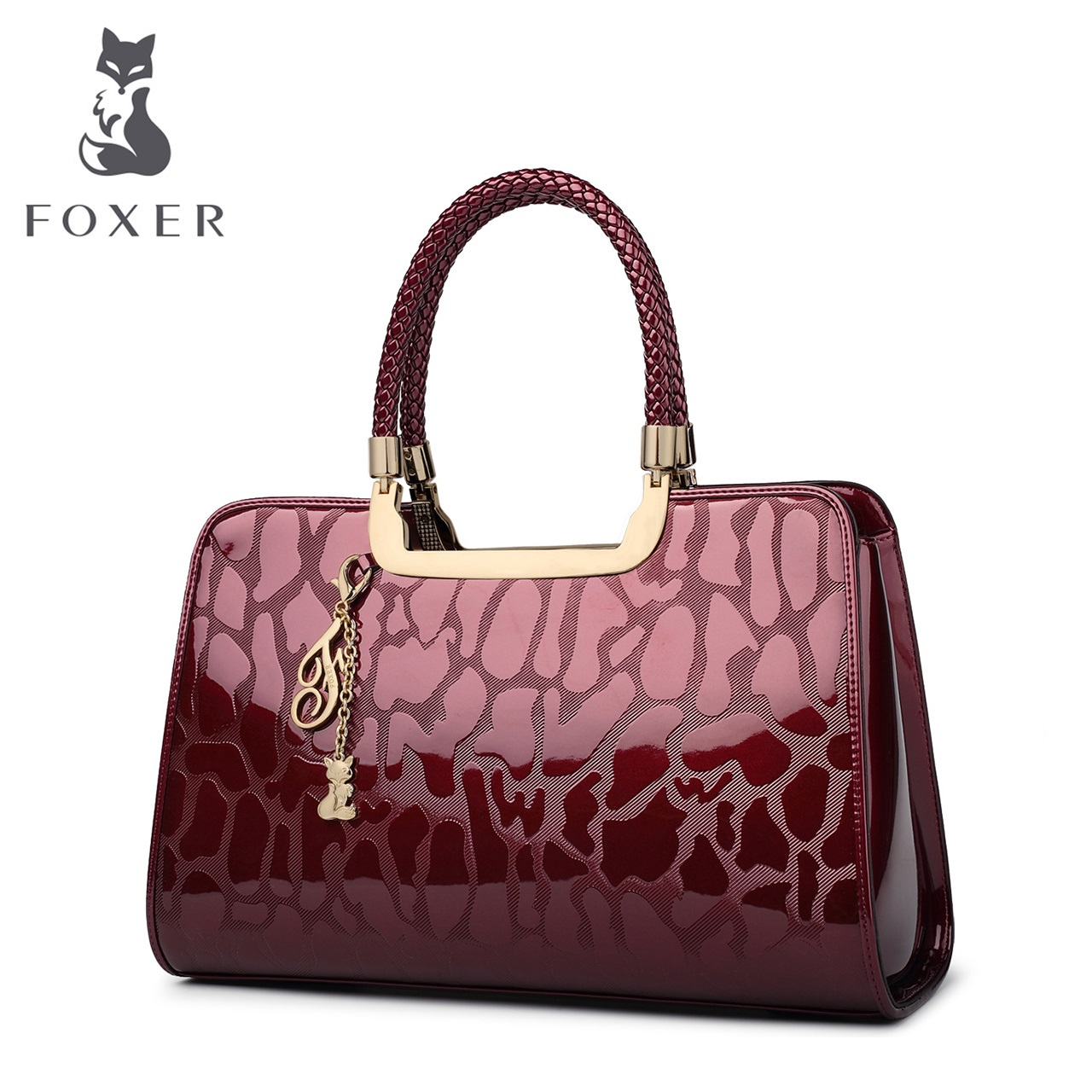 Golden Fox middle-aged lady bag patent leather handbag shoulder bag Europe and the United States 2018 new female big bag leather handbag