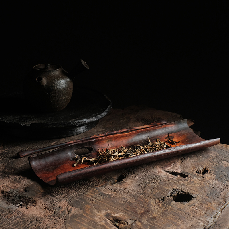 Joint research material old red acid branch tea kung fu tea large tea tea tea dial two sets of wood workers hand-made