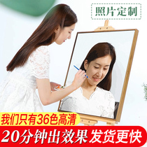 Malandiy Digital Oil Painting Photos Customized Character Couple Gift Wedding Dress Photos Filled in Adult Hand Painting Oil Painting