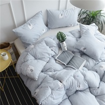 Quilt Winter Quilt Warm thickened winter quilts single double air conditioning by the students spring and autumn by the core bedding