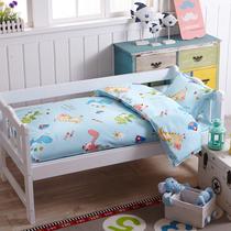 Детский сад одеяло из трех частей набор хлопок сон одеяло матрас полный хлопок детские шесть частей набор с основной мультфильм 60x120 кровать