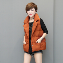 Korean version of the slim dark buckle zipper pocket for fall winter leisure cotton vest