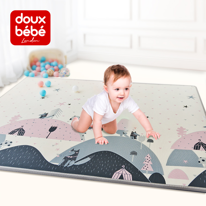 Douxbebe baby XPE crawler pad baby crawler pad child crawler pad thickening environmental living room household