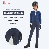 Silicone childrens equestrian pants Summer riding pants high elastic shaping mens and womens equestrian clothing equipment eight-foot dragon harness