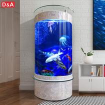 Germany Dirk fish tank glass aquarium semi-circular household living room small ecological water-free lazy goldfish tank
