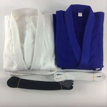 Professional competition using judo clothing training clothes bamboo wool plain cotton white blue Road clothing judo adult childrens money