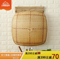 Simple bamboo with hole desktop food cover anti-fly fruit cover retro Chinese fruit food cover