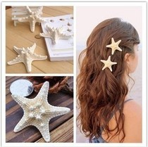 Flower Starfish Hairpin headwear egg lace Clip Seaside Beach Resort Head Flower Beach Flower Hair Accessories