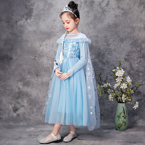 Snow princess dress Pocahontas 2 Aisha childrens little girl long sleeve Aisha girls dress son Aisha spring autumn
