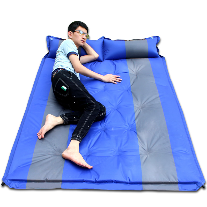Outdoor two-person automatic inflatable tent moistureproof mat camping pad thickening portable mattress