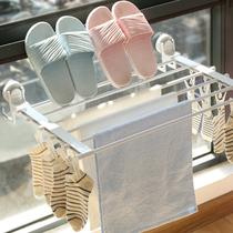 Fenêtre racks fenêtre séchage étagère à chaussures séchage étagère à chaussures livraison poinçon pliage petit intérieur balcon sous-vêtements séchage rack