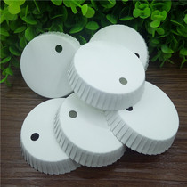Hotel hair salon salon private room dishes dedicated disposable whiteboard punch 7 kinds of diameter paper cup cover 200.