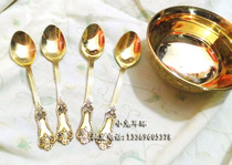 Pakistan bronze Pure Copper Spoon Fork tableware Boutique products Indo-Pakistani cultural promotion