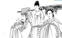 Send son king figure Tang Wu Daozi National painting white sketch pen character Linyi material HD picture material new product.