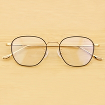 317305c39cc DIT titanium ultra-light box round face generous face wide face gold  glasses frame height