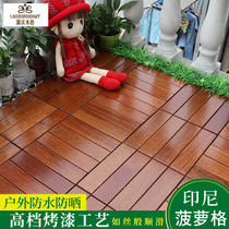 Outdoor Balcony Floor Anti-corrosion Wood Waterproof and Anti-skid Stitching Indonesia Pineapple Bathroom Outdoor Garden Balcony