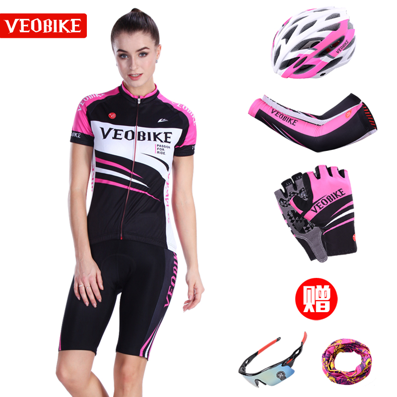 Magic Line Summer Cycling Wear Short Sleeve Suit Professional Mountain Bicycle Cycling Wear Top Short Pants Women