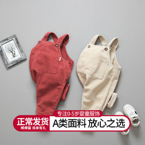 Baby air pants corduroy children spring clothes 1-3 years old 2 children spring and autumn girls girls baby overalls