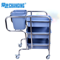 Changjin brand stainless steel collection car multi-layer receiving dining car dishwasher Mobile Storage bus restaurant pack car