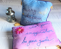 Special original cotton embroidery core small small lumbar pillow pillow pillow Princess girls Merry Sue cushion