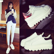 In the spring of 2017 new all-match Korean platform shoes thick white shoe female sports shoes increased leisure shoes