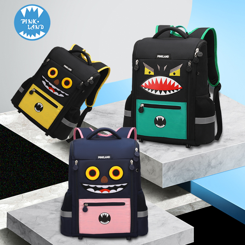 Pinkland Children's Backpack Chao Boys Primary School Pupils'schoolbags Girls' 1-3 Grade 16 Back Protectors and Shoulder Bags