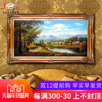 Mei Fang Pure hand-painted European oil painting landscape living room painting decorative painting mural harvest Treasure Painting customization