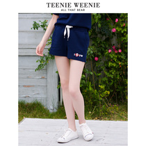 Teenieweenie Cubs 2018 Summer New Women's casual pants sports shorts tide tttm86405i