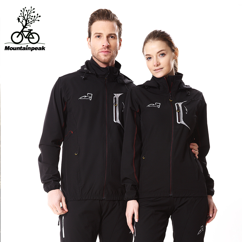 MTP Spring, Autumn and Winter Cycling Windshield Long Sleeve Suit Men's and Women's Bicycle Wear Windbreak, Fleece and Warm Cycling Wear