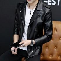 Натуральная кожа мужской прилив овечьей кожи тонкий корейский версия Локомотив кожи куртки тенденции красивый весна и осень мужская куртка py