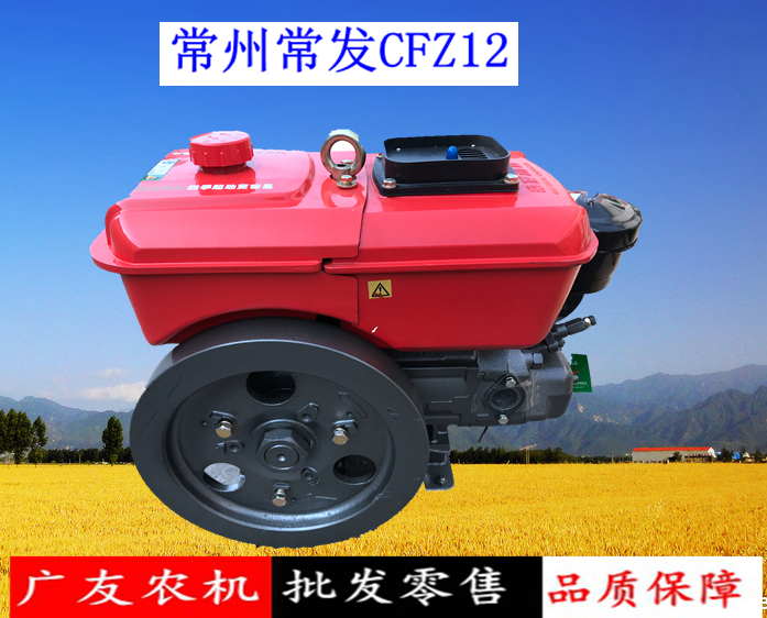 Changzhou Changfa diesel engine CFZ12E2 192 small 12 horsepower single cylinder water-cooled diesel engine original