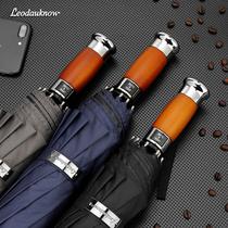 Негабаритный зонтик 10 костей деревянный хвостовик ветрозащитный бизнес солнцезащитный свет уф-защиты три складные мужчины и женщины полностью автоматический солнечный зонтик