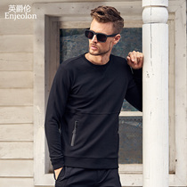 British Viscount sweater men and men long-sleeve blouse stitching design t shirt sweater at the end of movement