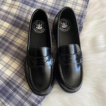 (Spot) 慄 de petites chaussures en cuir femmes jk chaussures étudiants à talons bas noir chaussures uniformes de vent collège Carrefour chaussures 6502