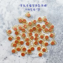 Zhenxin zhenzhi New Year new product Gold Gold 3d hard gold super cute pendant bracelet accessories accessories (two)