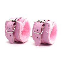 Hairy Hand ring foot ring leather sexy lingerie accessories bracelet Bondage Couple Game Passion