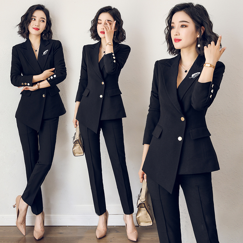 Suit suit womens fashion workwear British style new temperament suit jacket business is dressed in work clothes tide pc