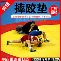 Wrestling Mat Professional Competition Training Wrestling Judo pad cover single compression cotton leather noodle Sanda Boxing mat