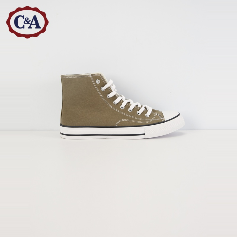 C & a leisure lace up trend high top canvas shoes men's new spring 2020 sneakers ca200224361