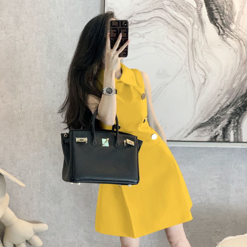 Yellow dress small evening dress women 2020 new banquet temperament usually can be worn to participate in the wedding dress summer