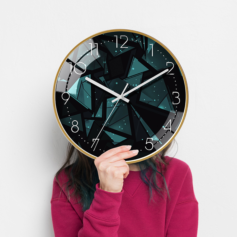 Ins net red clock, living room watch, creative fashion clock, electronic wall watch, bedroom silent quartz clock