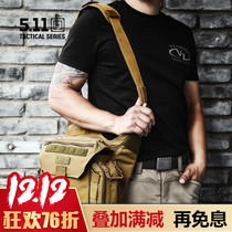 US 5.11 Super Saddle bag 56037 Outdoor multifunctional portable crossbody bag 511 Tactical Army Fan Shoulder backpack