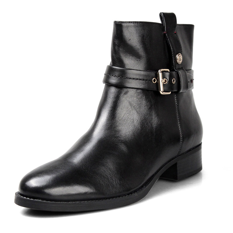 Clearance Tommy Hilfiger Women's Shoes Tommy Urban Fashion Women's Buckle Short Tube Women's Boots TWAIN