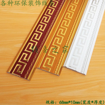 PS Chinese Flat decorative line European 7 cm background wall wrapping closing Edge frame photo Frame Border Bar