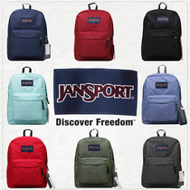 Jan Sport Jasper Shoulder Bag Official Genuine Treason College Style Backpack T501 Pure Color for Men and Women