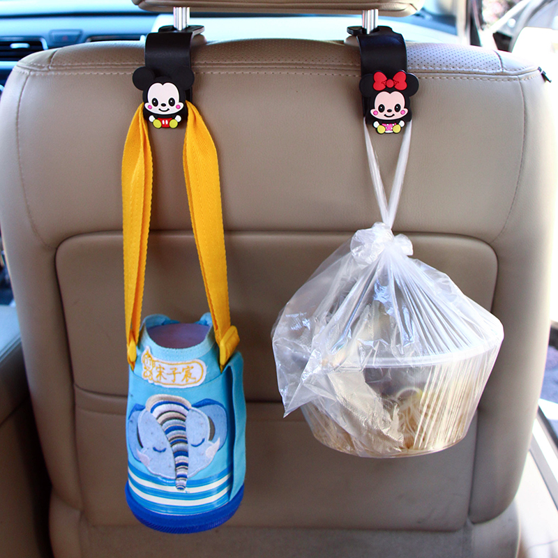 Front and rear car interior multi-functional car car hook rear seat back car cartoon interior supplies big