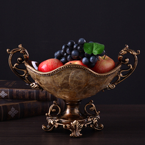 European fruit plate luxury retro living American candy plate large home dry fruit plate coffee table ornaments ornaments