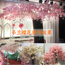 Sea otter red pei bouquet simulation cherry blossom decoration branch fresh long and small personality rattan 3 fork 4 fork plant dress up