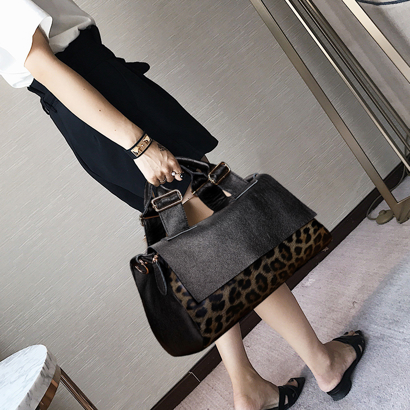 Adani Cowskin Bag and Girls 2019 New Genuine Leather Bag Fashion Single Shoulder Bag and Large Capacity Women's Handbag